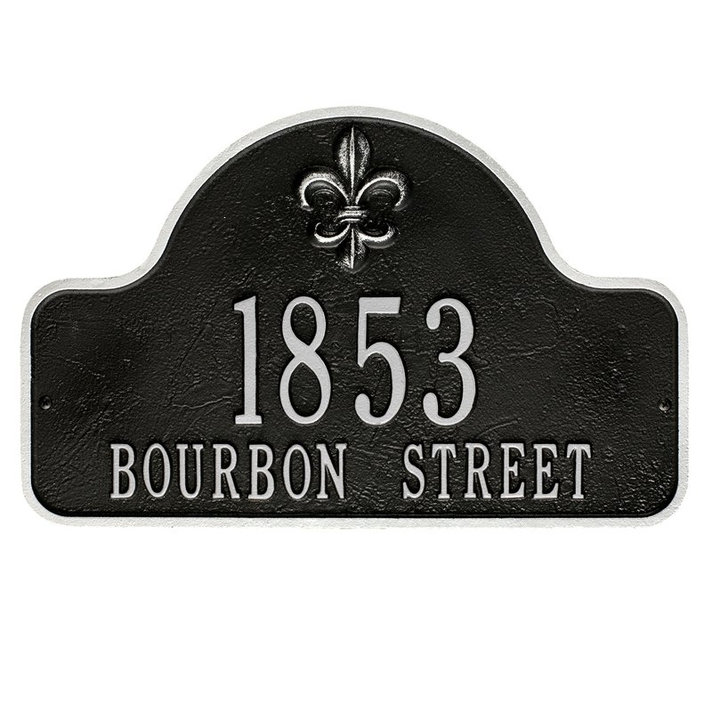 Custom Outdoor Wall Address Plaques | Magnificent Mailboxes